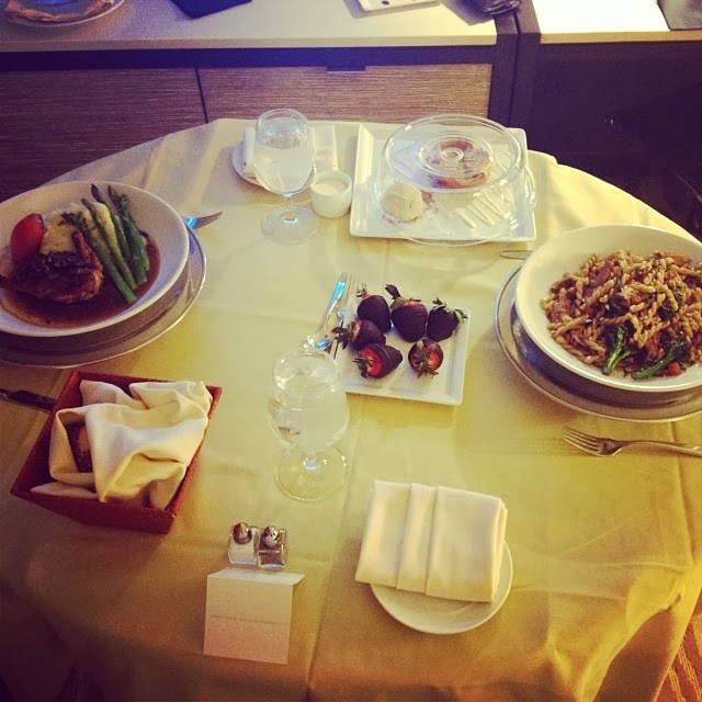 Table is set for Stella Damasus and her mystery man