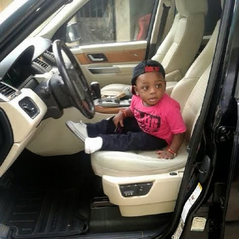 Terry G shows off his son