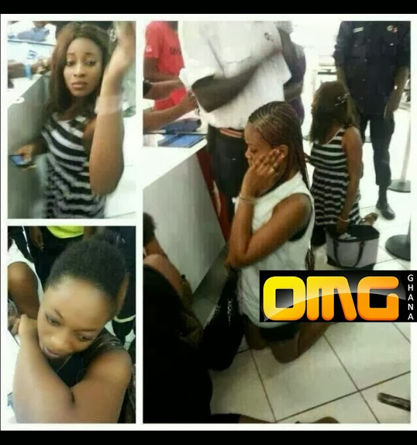 Three female students caught stealing pants at Mr. Price