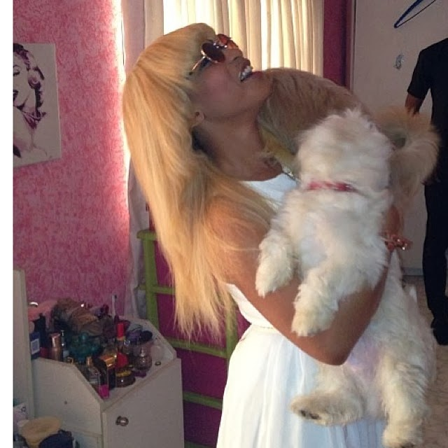Tonto Dikeh and her puppy