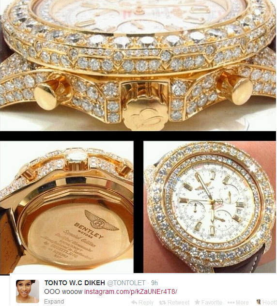 Tonto gets diamond encrusted watches