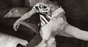 Wizkid and Son chilling