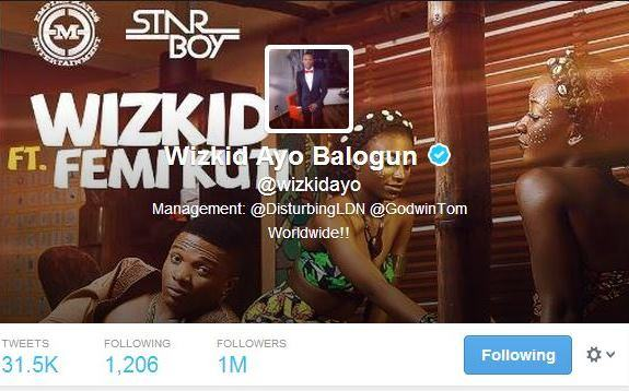 Wizkid becomes the most followed Nigerian celeb on twitter and Instagram