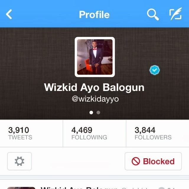 fake wizkid twitter account