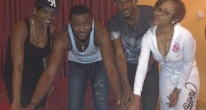 Annie and Tuface celebrate with Chidi Mokeme on his birthday
