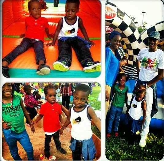 Bolu hangs out with Sound Sultan's kids