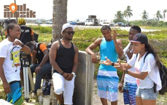 Darey's 'Special fever' video shoot featuring Rita Dominic