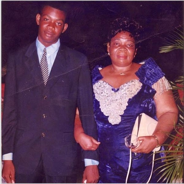 Don Jazzy with mum