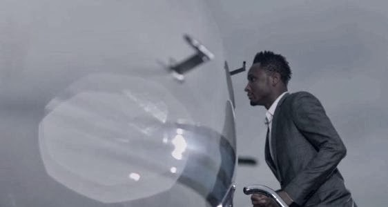 Mikel entering his Private Jet