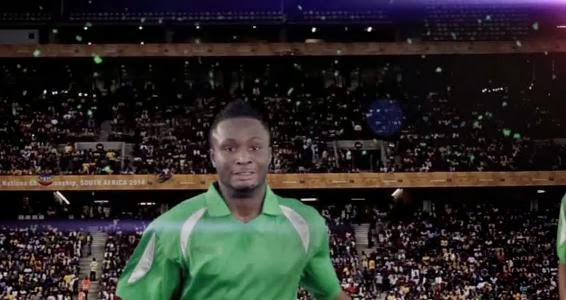 Mikel on the pitch