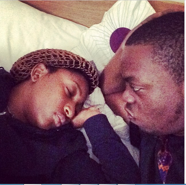 Olamide shares photo of himself and his boo in bed