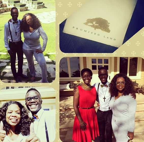 Oprah host Lupita Nyong'o's mother & brother