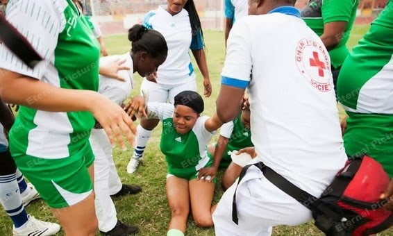 Toyin Aimakhu collapses during Nollywood football match