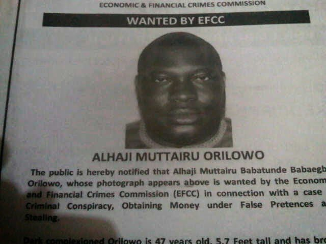 Tunde Orilowo declared wanted by EFCC for fraud