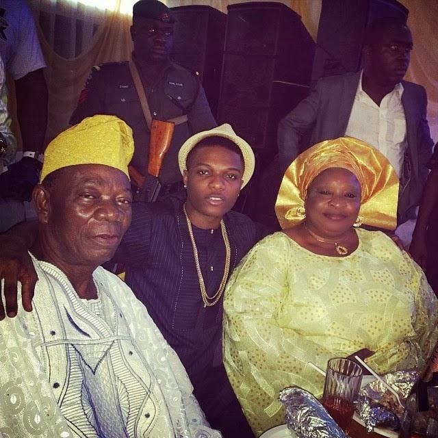 Wizkid shares photo of his parents