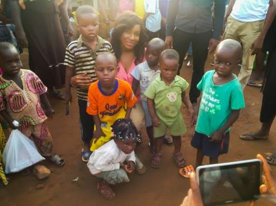 Chika Ike gives to less privileged kids