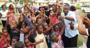 Davido celebrates easter with kids at orphanage