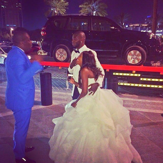 Don Jazzy gives Tiwa Savage a car wedding gift