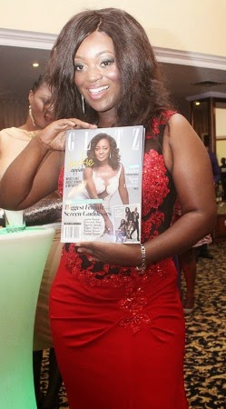 Jackie Appiah looking stunning on the cover of Glitz Africa
