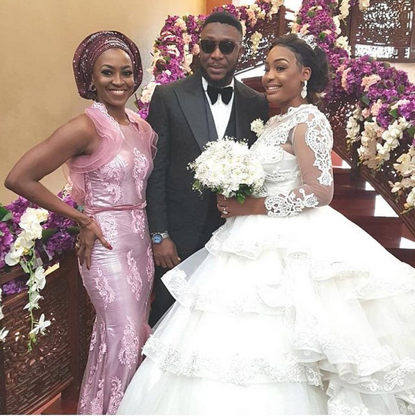 Kate Henshaw at Tchidi Chikere and Nuella's wedding
