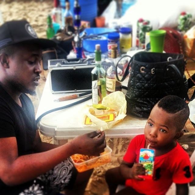 M.I feeding Iceprince's son