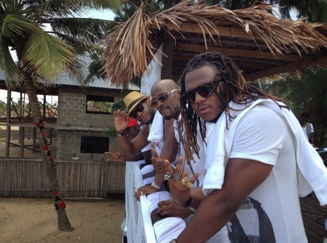 Nedu, Lynxx and Ikechukwu at Hennessy all white beach party