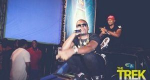 Olamide arrives on stage in style