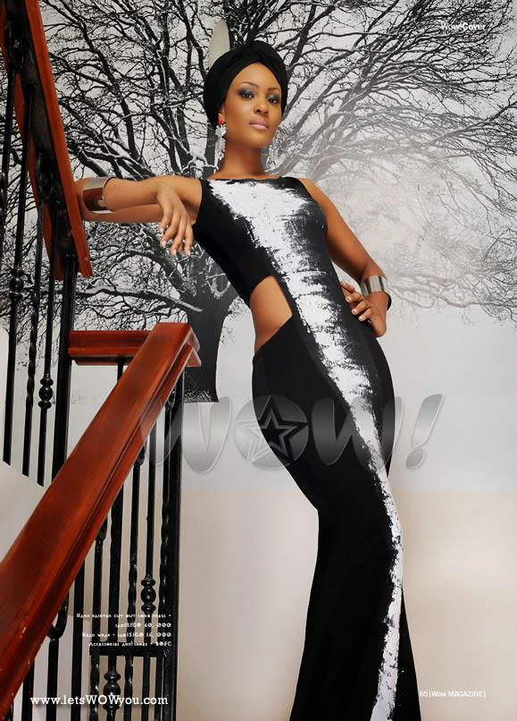 Osas Ighodaro looking lovely on WOW Magazine April issue