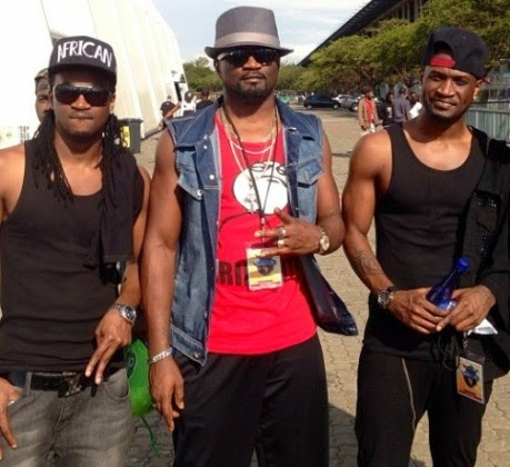 Psquare and Jude Okoye in South Africa for the Channel O Video Music Awards November 2013