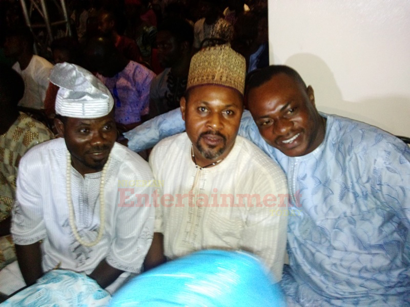 Saidi Balogun (middle) was spotted with Odunlade Adekola right before he stormed out of the ceremony venue…