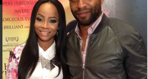 Toke Makinwa spotted with Chiwetel Ejiofor