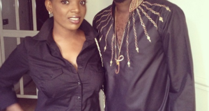 Tuface Idibia and Annie rock matching outfits