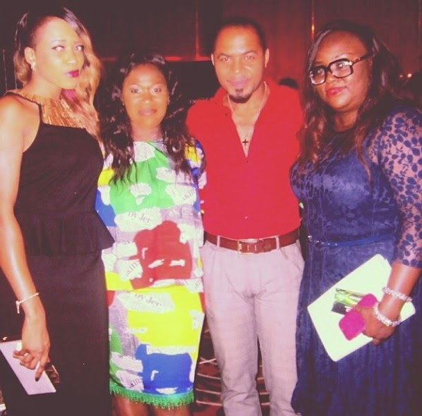 Uche Jombo looking fab in multicoloured gown