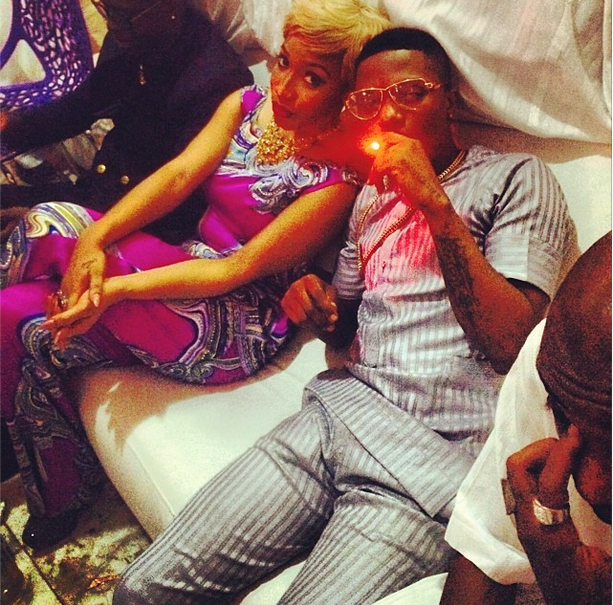 Wizkid spotted with Tonto Dike