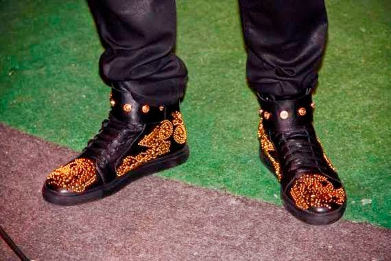 2face N1million gold encrusted sneakers