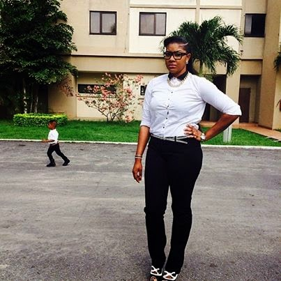 Angela Okorie and her son