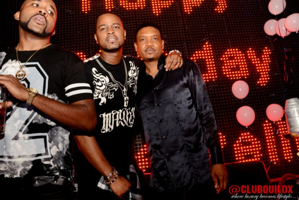 Banky W and Dj xclusive at Shina Peller's Birthday