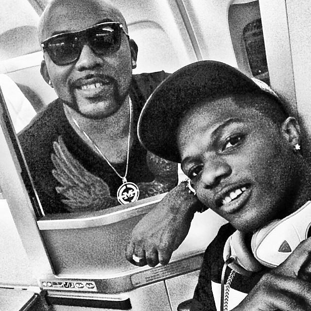 Banky W and Wizkid take Airplane selfie