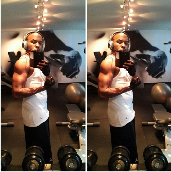 Banky W shares sexy workout photos
