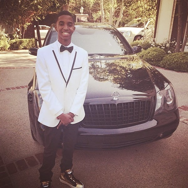 Christian Combs attends his first prom in a Maybach