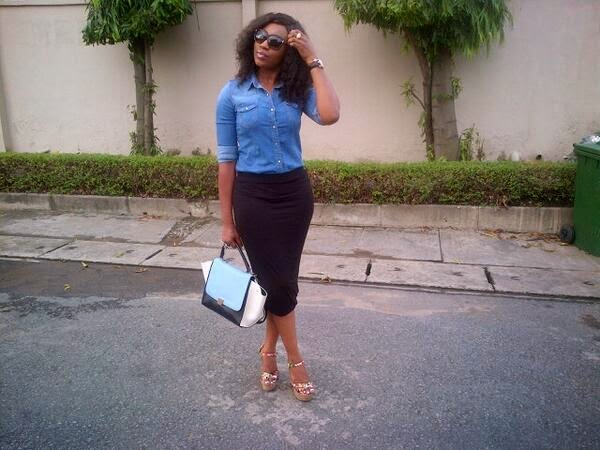 Ebube Nwagbo steps out looking stylish