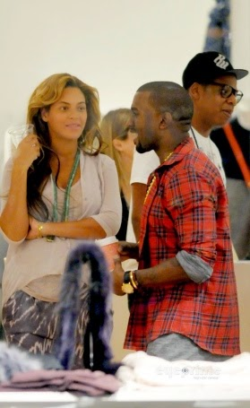 JAY Z, Beyonce and Kanye West
