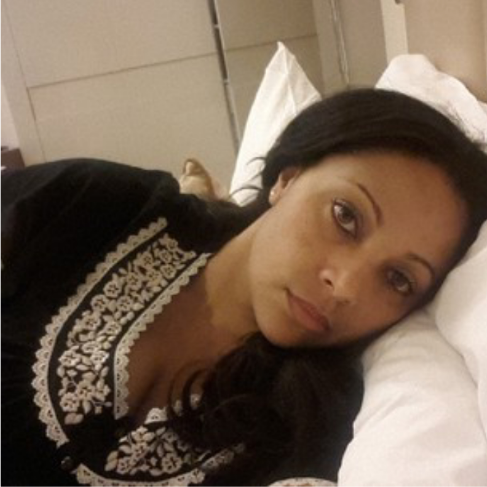 Lola Omotayo share sultry photo of herself in bed