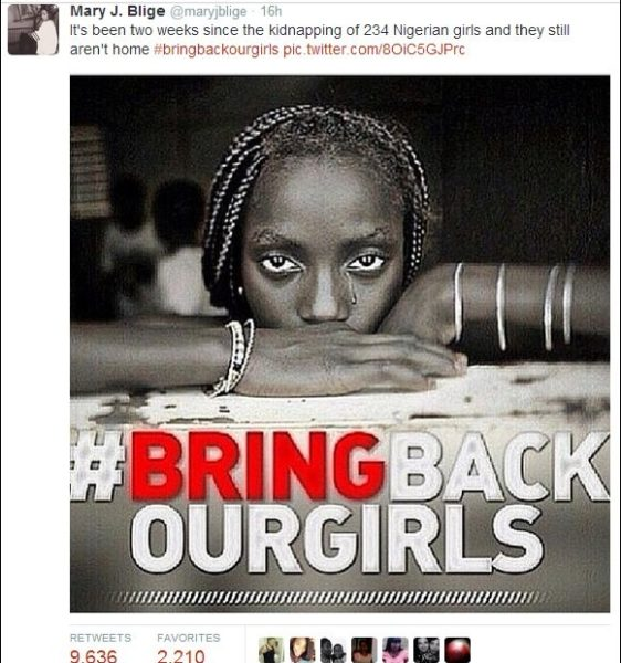 Mary J Blige Bring Back Our Girls