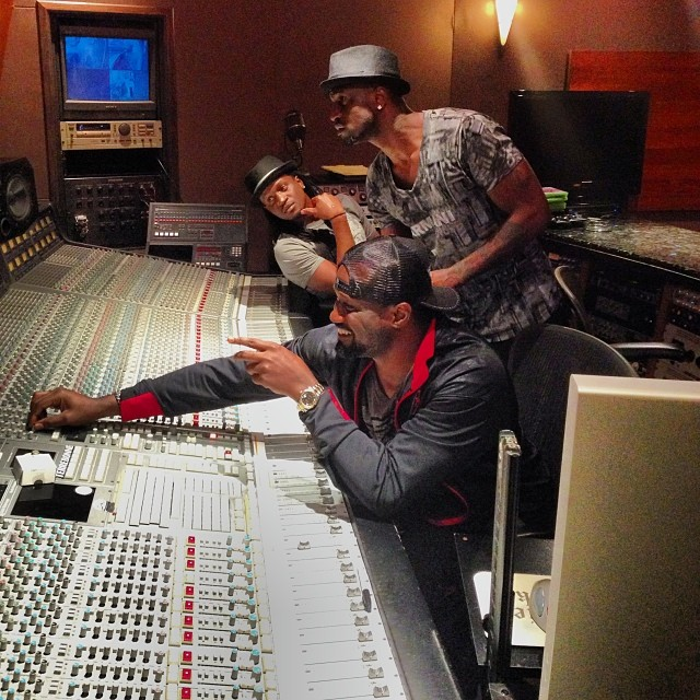 Psquare and Jude in the studio
