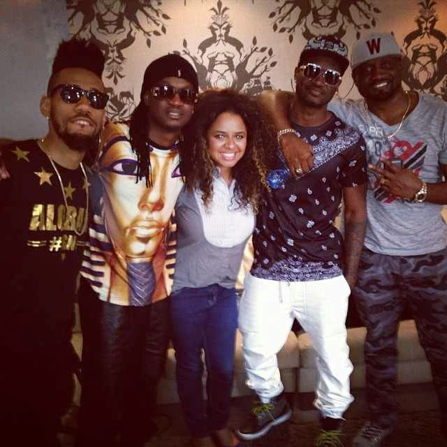 Psquare's O set video shoot with Phyno