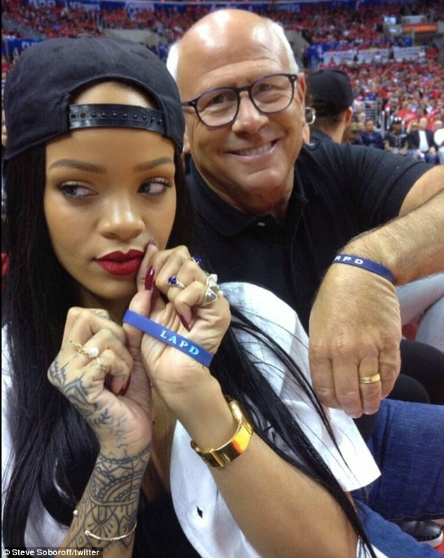Rihanna and LAPD chief