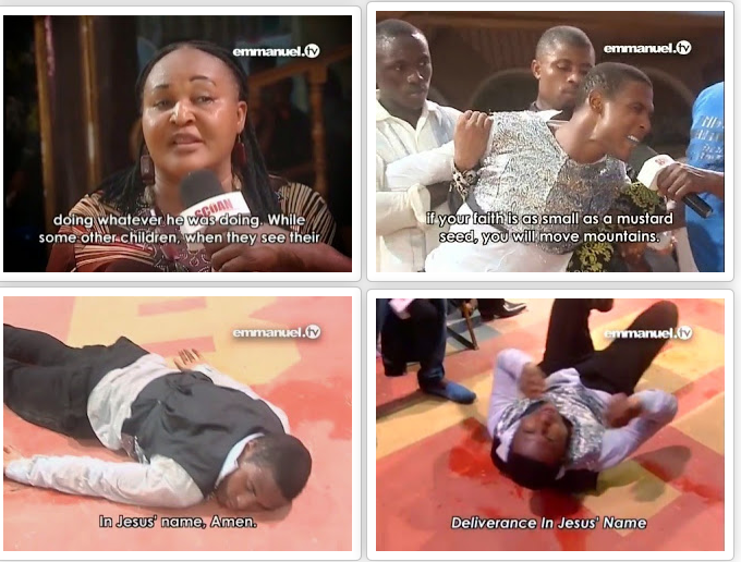 T.B Joshua's delivers Actress Camilla Mberekpe's son
