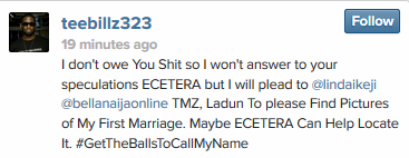 Teebillz also blasts Etcetera