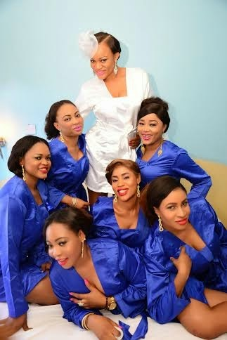 Uche Nnenna and her bridesmaid